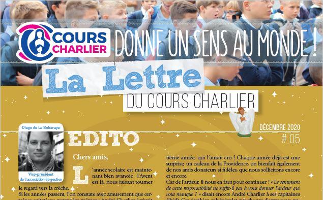 La lettre du Cours Charlier – décembre 2020